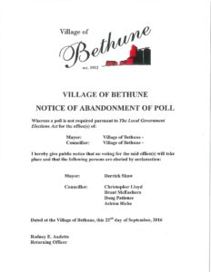 bethune-election-notice
